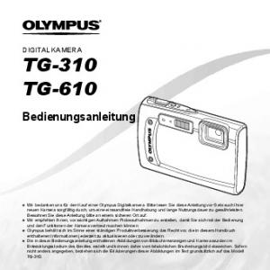 TG-310 TG-610. Bedienungsanleitung DIGITALKAMERA