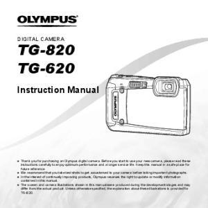 TG-820 TG-620. Instruction Manual DIGITAL CAMERA
