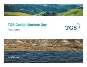 TGS Capital Markets Day 13 January 2015
