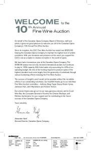 th Annual Fine Wine auction