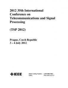 th International Conference on Telecommunications and Signal Processing