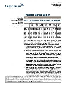 Thailand Banks Sector