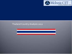 Thailand Country Analysis 2012