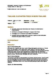 THAILAND: ELEFANTEN-TRECK IN NORD-THAILAND