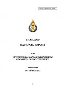 THAILAND NATIONAL REPORT