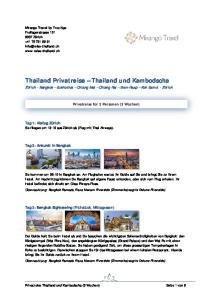 Thailand Privatreise Thailand und Kambodscha