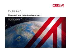 THAILAND. Sicherheit und Katastrophenschutz