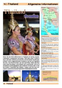 Thailand. Thailand Allgemeine Informationen. 8 Thailand THAILAND