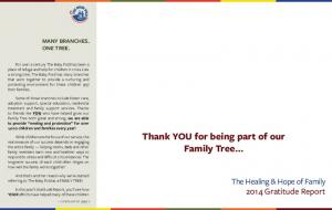 Thank YOU for being part of our Family Tree