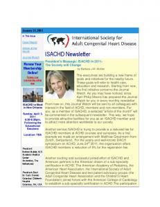 Thank You For Your Continued Membership. We Value You As A Member! ISACHD Newsletter
