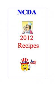 Thank you to all our NCDA members who have contributed to our cookbook this year