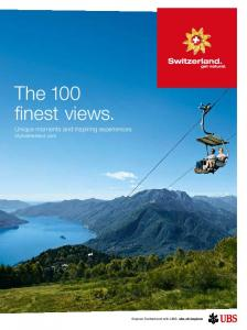 The 100 finest views