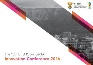 The 10th CPSI Public Sector. Innovation Conference 2016