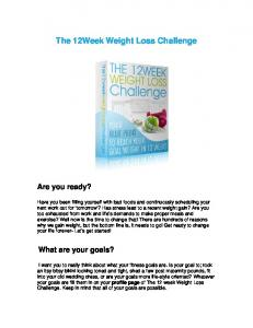 The 12Week Weight Loss Challenge