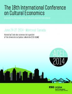 The 18th International Conference on Cultural Economics