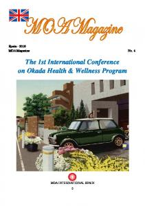 The 1st International Conference on Okada Health & Wellness Program
