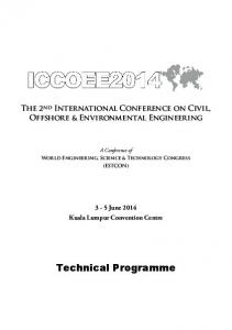 The 2 nd International Conference on Civil, Offshore & Environmental Engineering. A Conference of