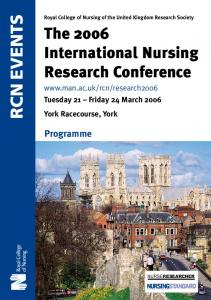 The 2006 International Nursing Research Conference