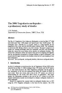 The 2006 Yogyakarta earthquake a preliminary study of deaths