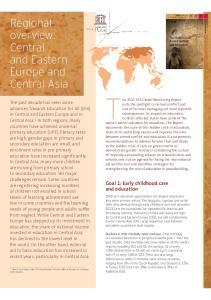 The 2011 EFA Global Monitoring Report