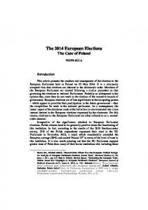 The 2014 European Elections The Case of Poland