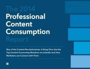 The 2014 Professional Content Consumption Repor t