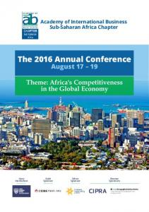 The 2016 Annual Conference