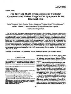 The 3q27 and 18q21 Translocations for Follicular Lymphoma and Diffuse Large B-Cell Lymphoma in the Rituximab Era