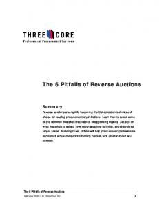 The 6 Pitfalls of Reverse Auctions