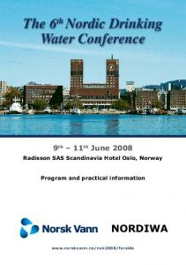 The 6 th Nordic Drinking Water Conference