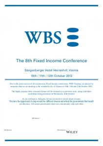 The 8th Fixed Income Conference