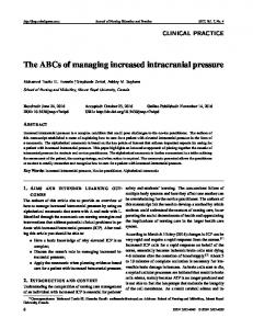 The ABCs of managing increased intracranial pressure