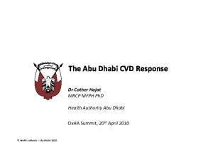 The Abu Dhabi CVD Response