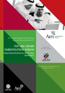 THE ABU DHABI EMIRATISATION FORUM