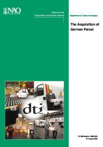 The Acquisition of German Parcel