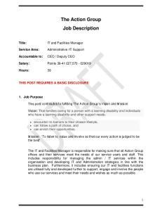 The Action Group Job Description