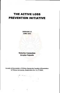 THE ACTIVE LOSS PREVENTION INITIATIVE
