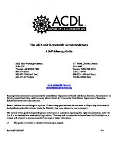 The ADA and Reasonable Accommodations