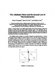 The Adiabatic Piston and the Second Law of Thermodynamics