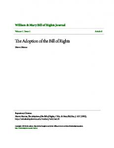 The Adoption of the Bill of Rights