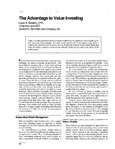 The Advantage to Value Investing
