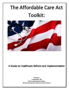 The Affordable Care Act Toolkit: