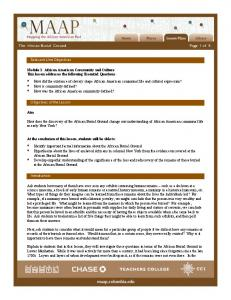 The African Burial Ground Page 1 of 6