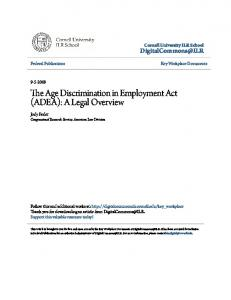 The Age Discrimination in Employment Act (ADEA): A Legal Overview