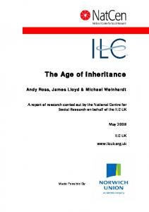 The Age of Inheritance