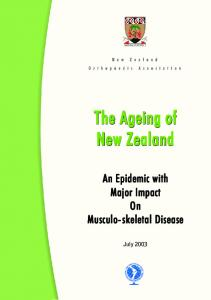 The Ageing of New Zealand