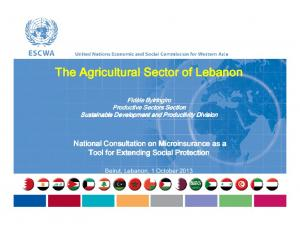The Agricultural Sector of Lebanon