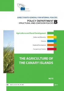 THE AGRICULTURE OF THE CANARY ISLANDS