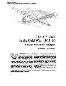 The Air Force in the Cold War,