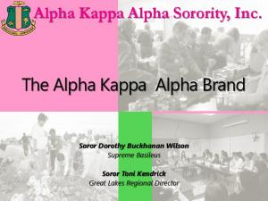 The Alpha Kappa Alpha Brand